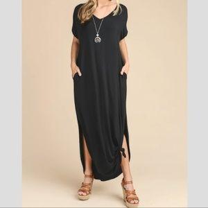 Vanilla Bay Oversized Maxi Dress Black Large
